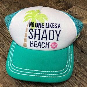 """Roxy """"No one likes a shady beach"""" hat"""